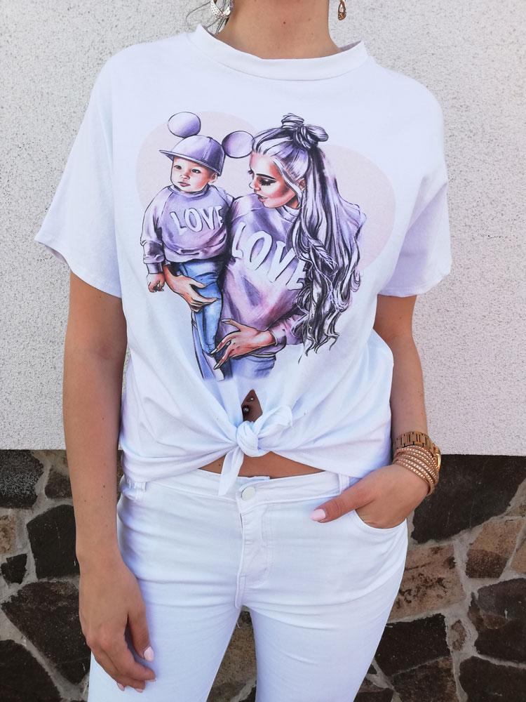 730717fc1cdd Dámske tričko s potlačou NK-LOVE-SHORT-white