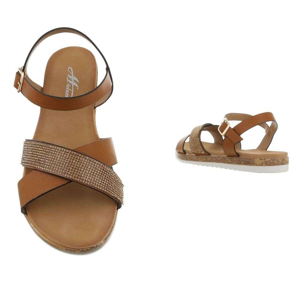 9704f6322 Hnedé dámske sandále TOP-D-116-camel