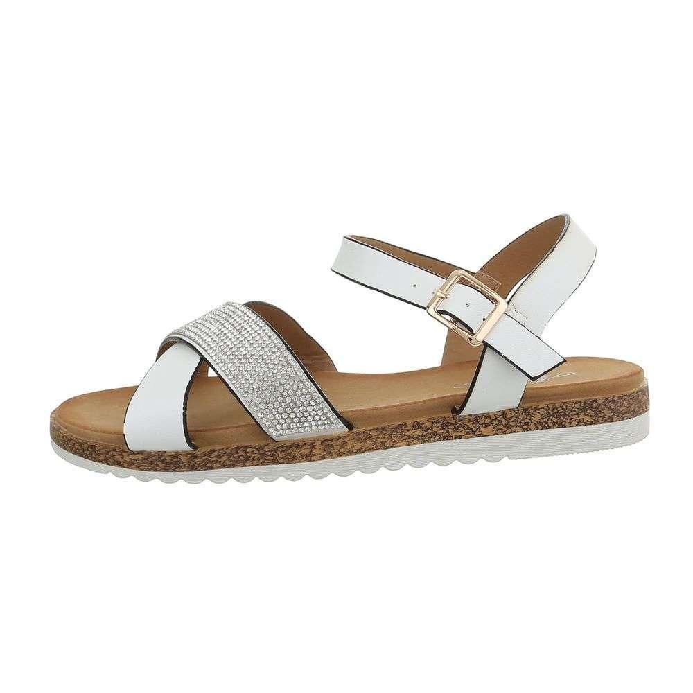 bd1c420fdbf5 Biele dámske sandále TOP-D-116-white
