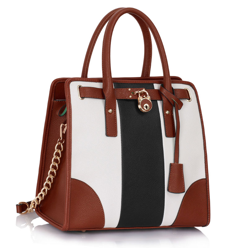 VIP kabelka do ruky DK00336-black/white/brown