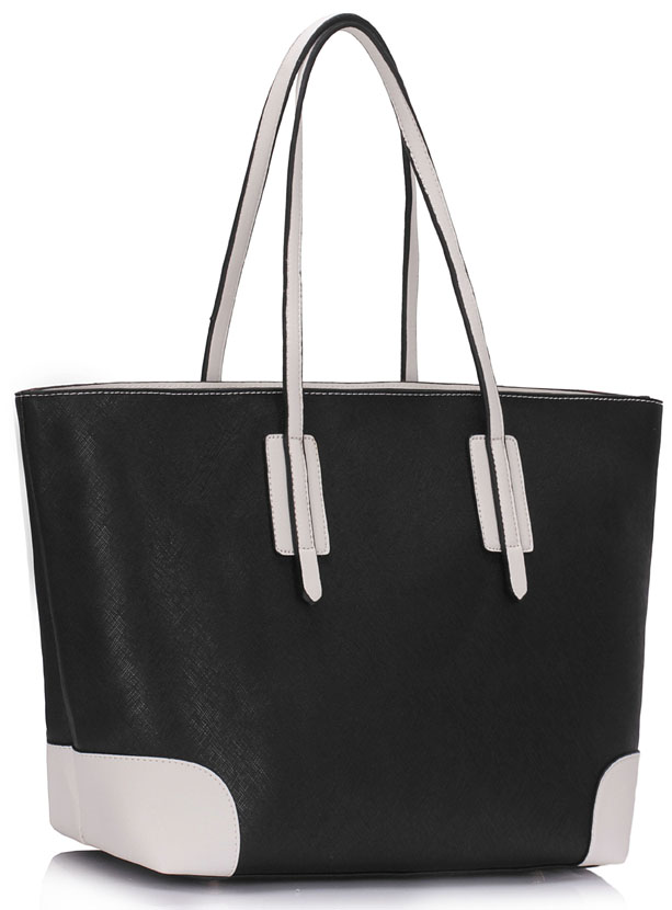 Shopperka na rameno 0088A-black/white