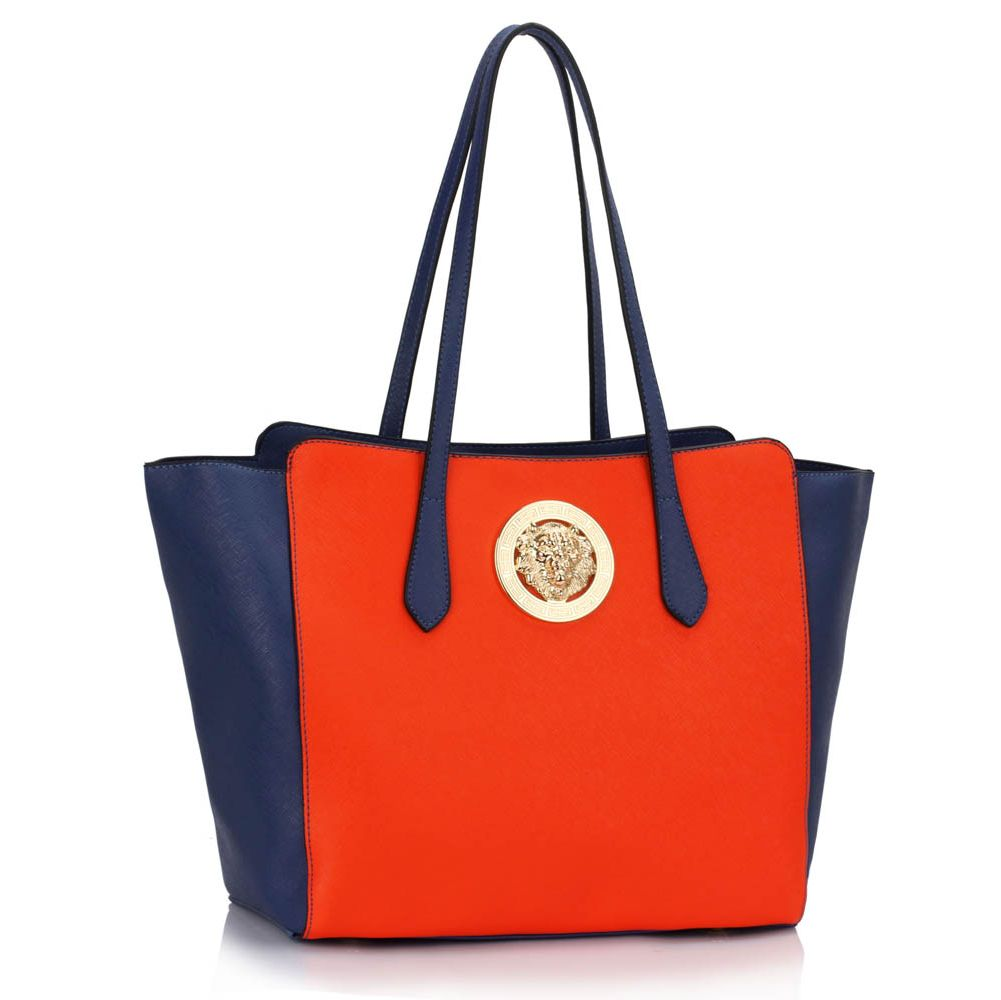 Kabelka do ruky DK00403-blue/orange
