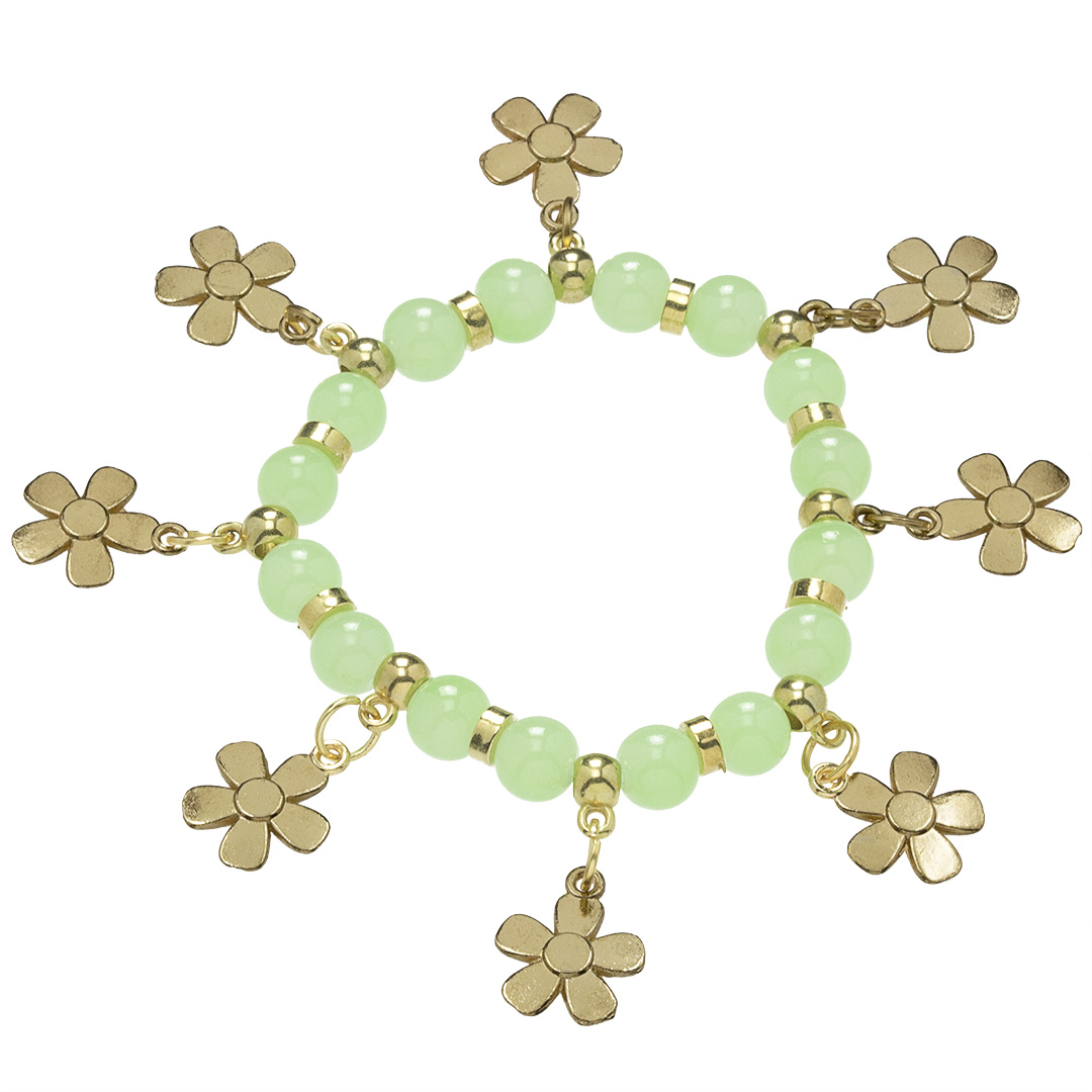 Náramok Gold Flower BZ10199-0-green