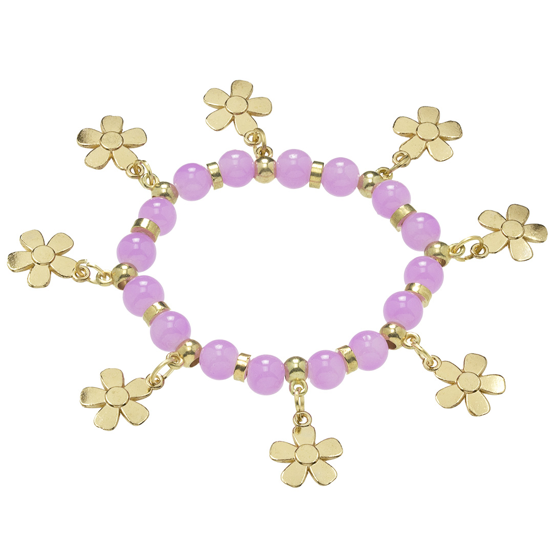 Náramok Gold Flower BZ10199-4-purple