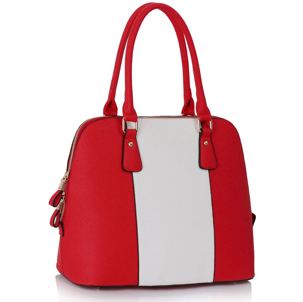 Kabelka do ruky DK00242-red/white