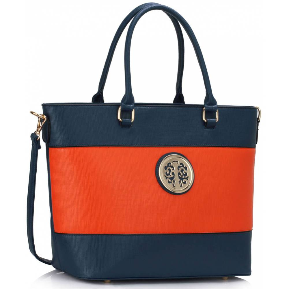 Shopper kabelka DK00406-blue/orange