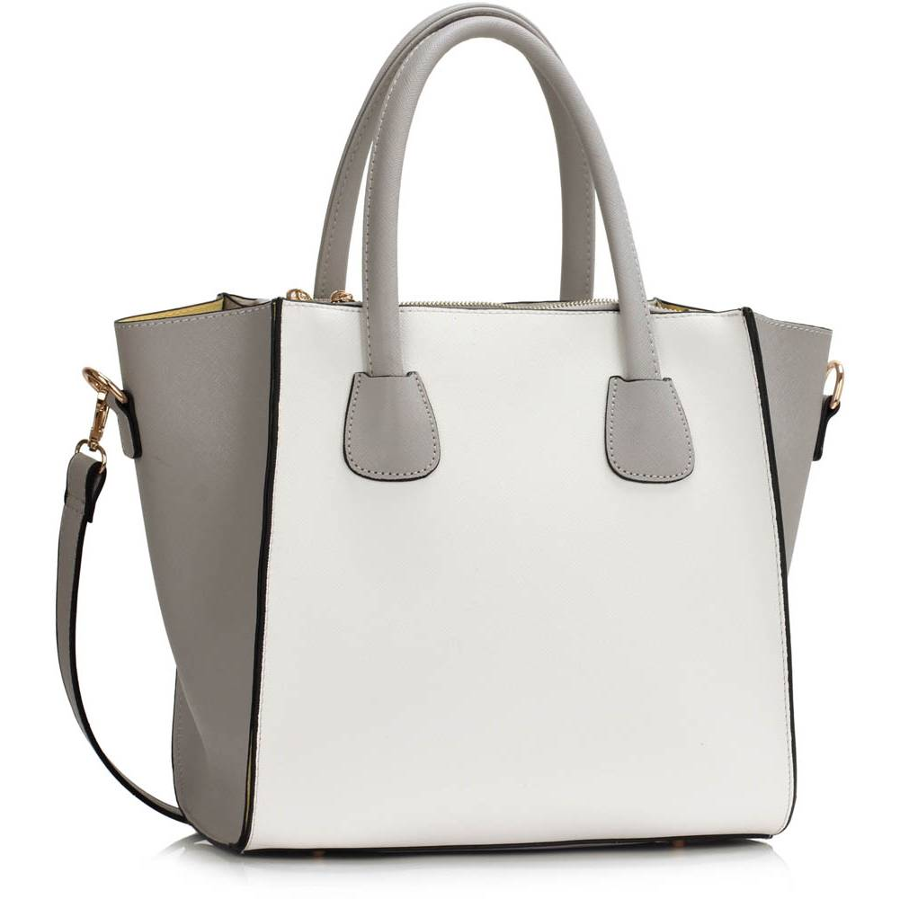 2a9e0c124 Kabelka do ruky Fashion DK0061A-grey/white empty