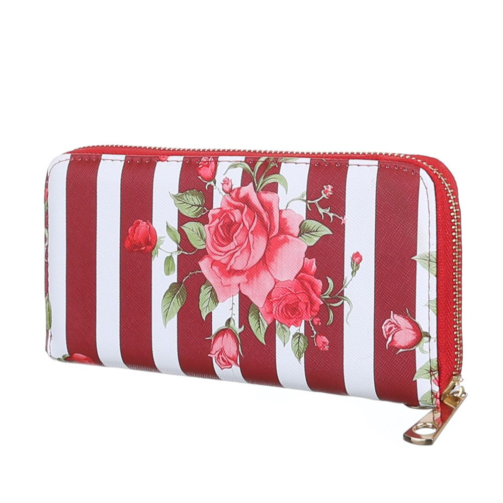 Peňaženka FLOWERS VSGL-GB-1019-red