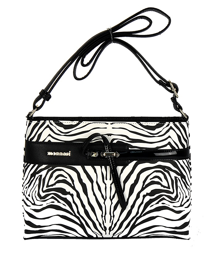 Luxusná crossbody MONNARI MON8830-black/white