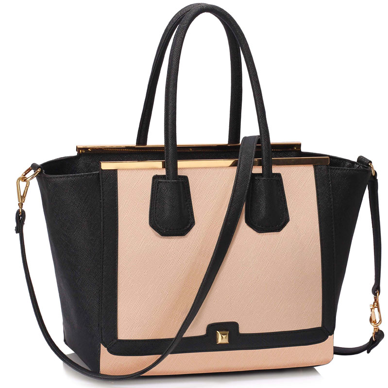 Kabelka do ruky DK00239a-black/nude