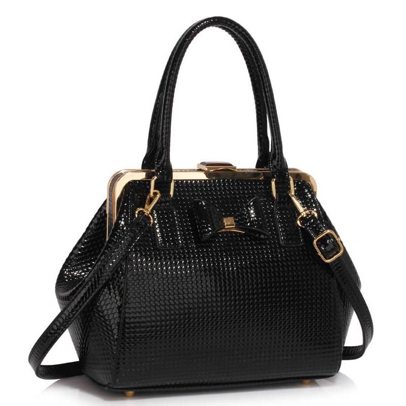 Elegantná kabelkado ruky DK00258b-black 5357dba8347