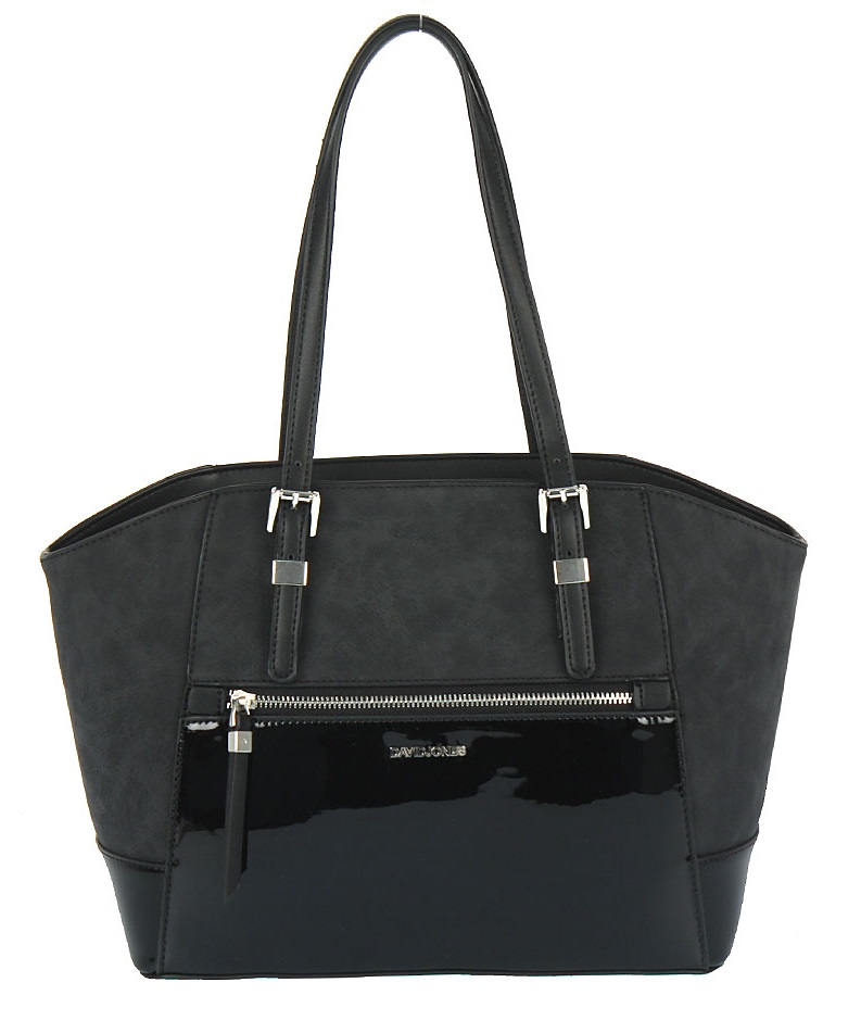 Elegantná kabelka na rameno David Jones CM5211-6-black