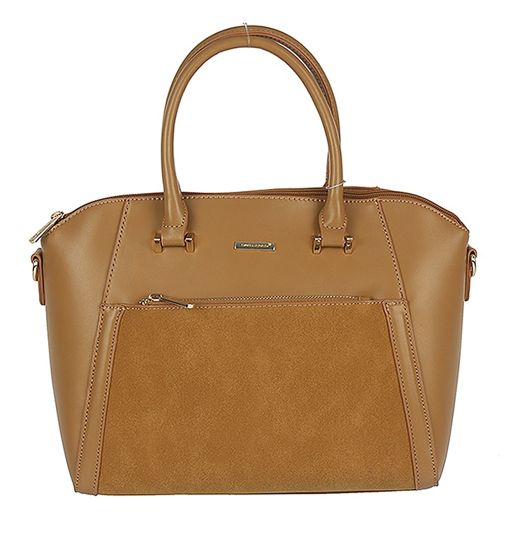 Trendy kabelka do ruky David Jones CM5207-4-caramel