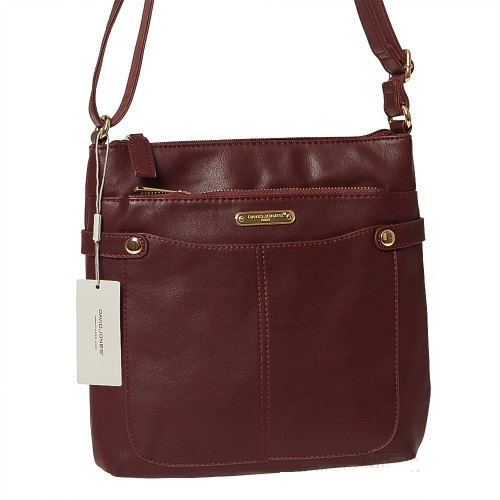 Crossbody kabelka David Jones CM5231-1-plum