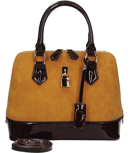 Trendy kabelka do ruky David Jones CM3215-yellow/d.brown