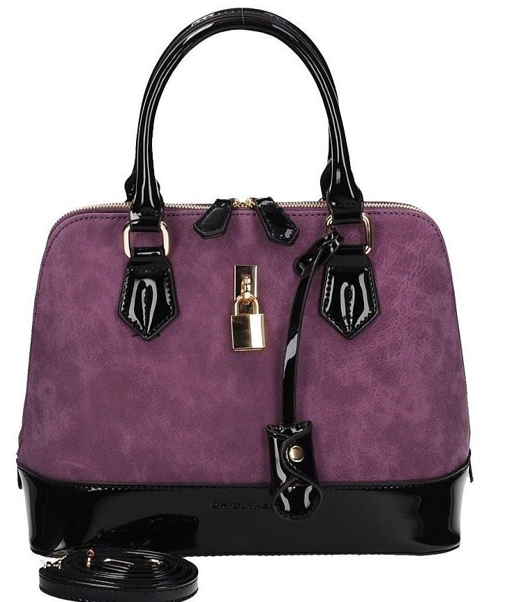 Trendy kabelka do ruky David Jones CM3215-purple/black