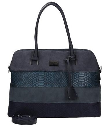 Elegantná kabelka do ruky David Jones CM5256-1-d.blue + crossbody ZDARMA!