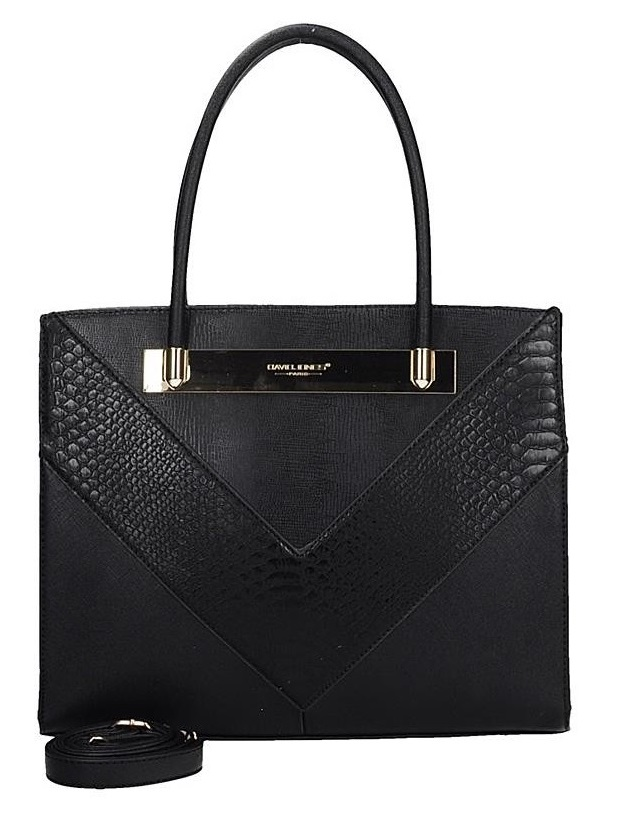 Elegantná kabelka do ruky David Jones CM5222-2-black