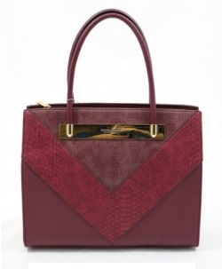 Elegantná kabelka do ruky David Jones CM5222-2-plum