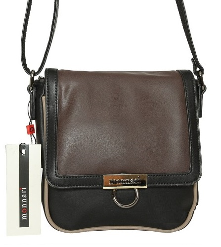 Luxusná crossbody MONNARI MON9300-brown/black
