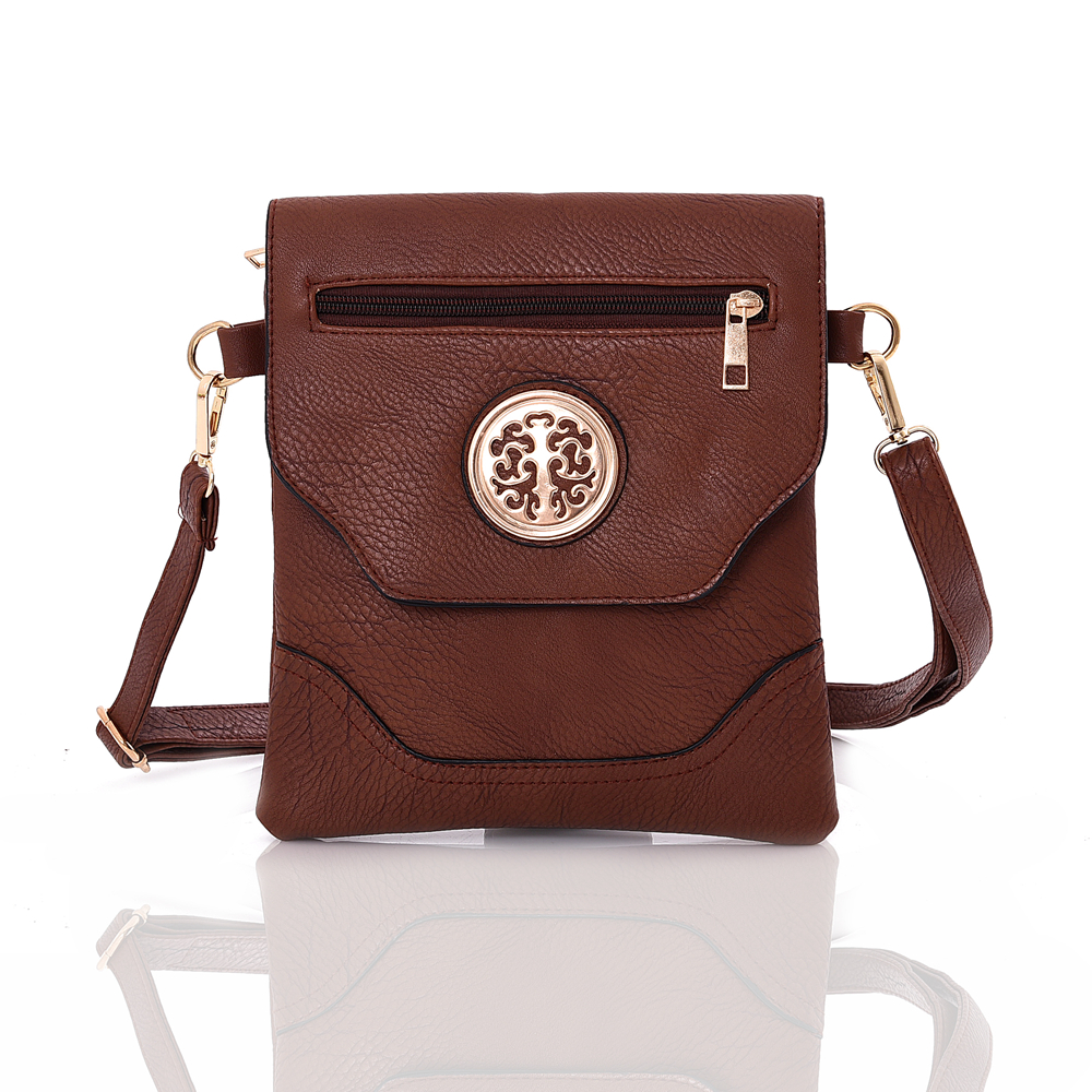 Crossbody kabelka NICOLA DJC-WBB265RD-brown