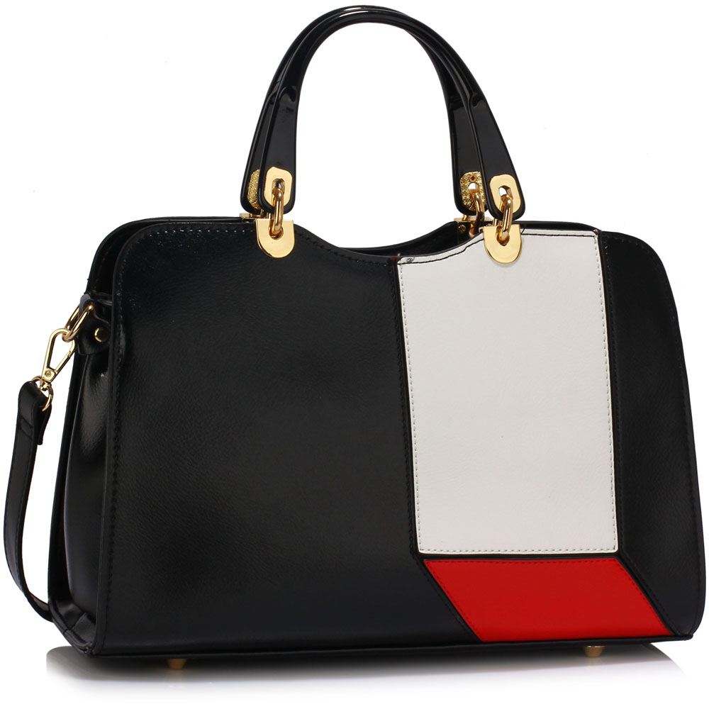 Čierna kabelka do ruky DK00416-black white red empty 5d0543c1575