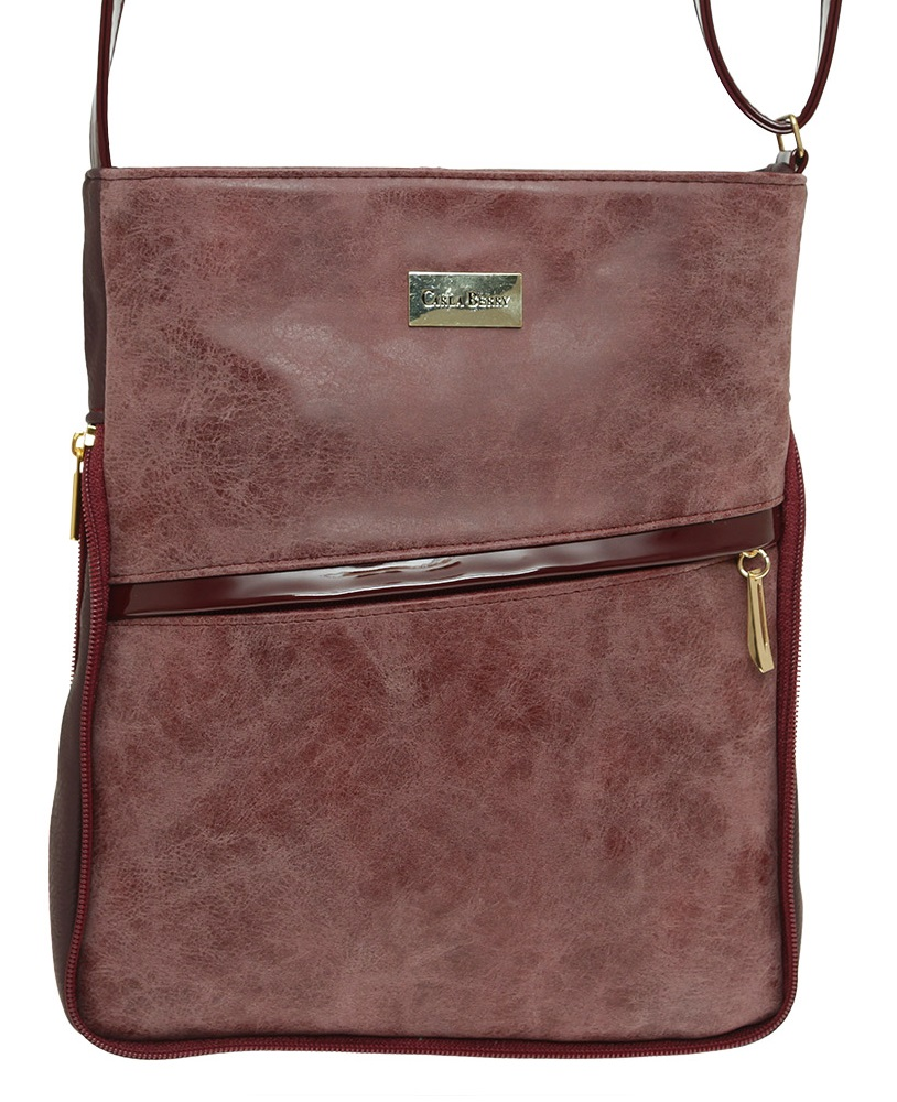 Bordová crossbody kabelka Carla Berry CB-1611-bordo