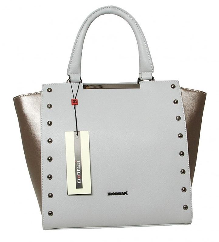 Modrosivá-bronzová kabelka do ruky MONNARI MON0550-grey-NEW 704337dacd2