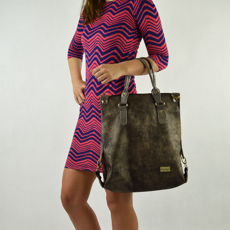 Hnedá shopper kabelka Carla Berry CB-034-met.brown