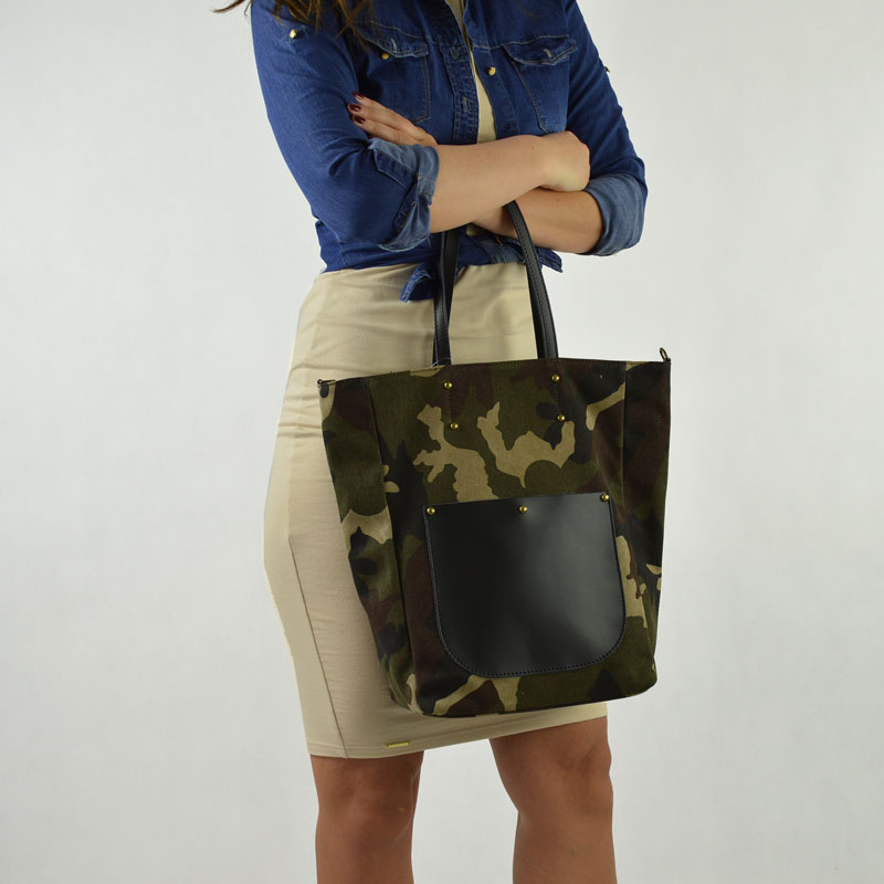 Army shopper kabelka na rameno Carla Berry CB-H-54-green/army
