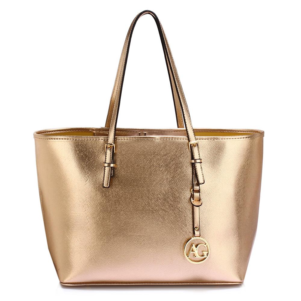 Zlatá kabelka na rameno DK00297-gold empty 3ff87663d7c