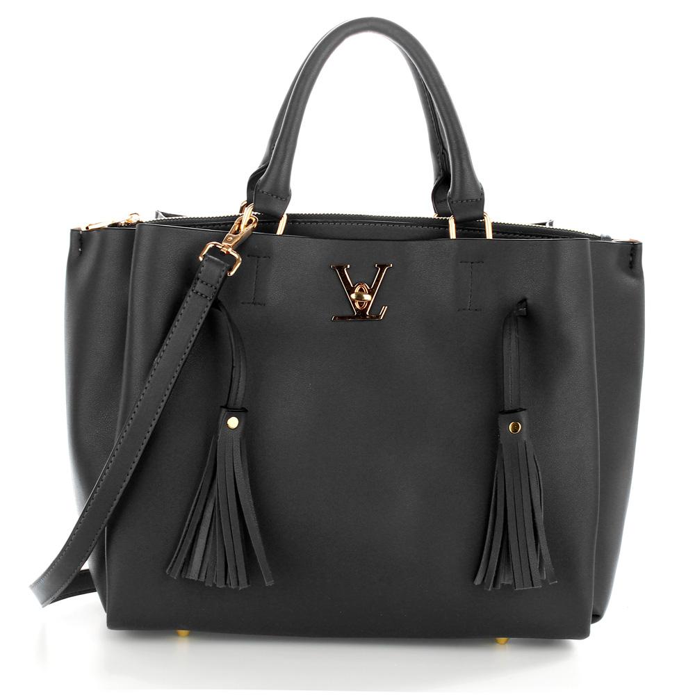 Elegantná kabelka do ruky AG00551-black empty 138b5fa503c