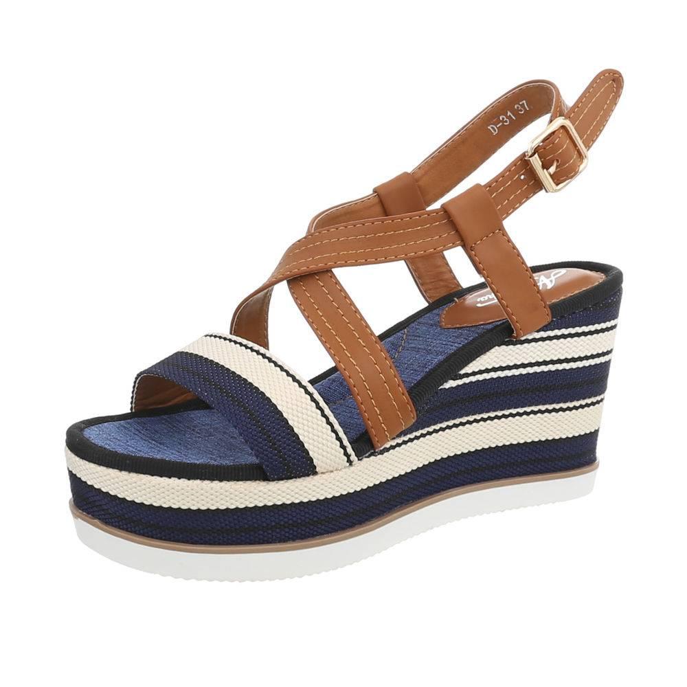 8eec9828e6ef Sandále na platforme TOP-D-31-blue