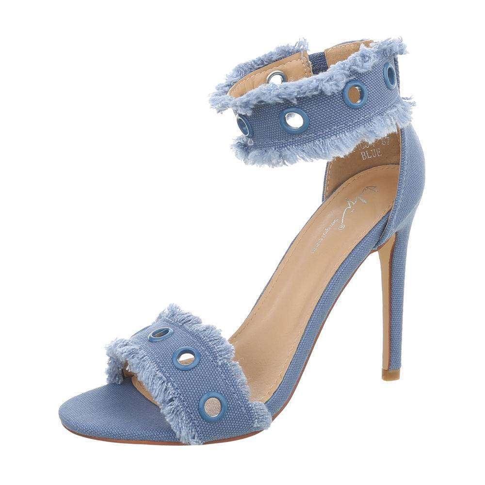 586ee216bbe26 Dámske textilné sandále TOP-KM004-blue empty