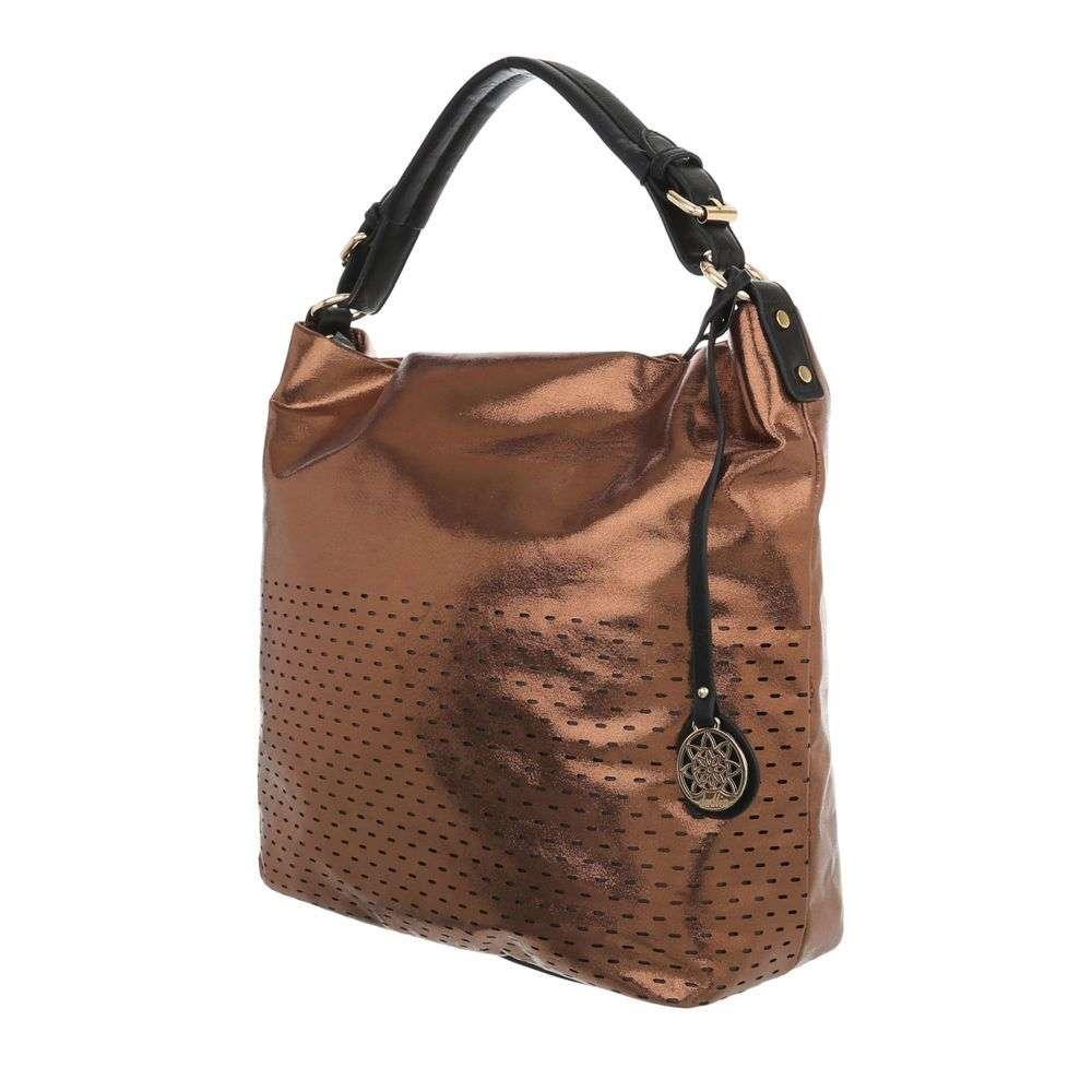 Bronzová dámska kabelka na rameno VSGL-TA-8035-476BK-bronze empty 0cdde31ec90