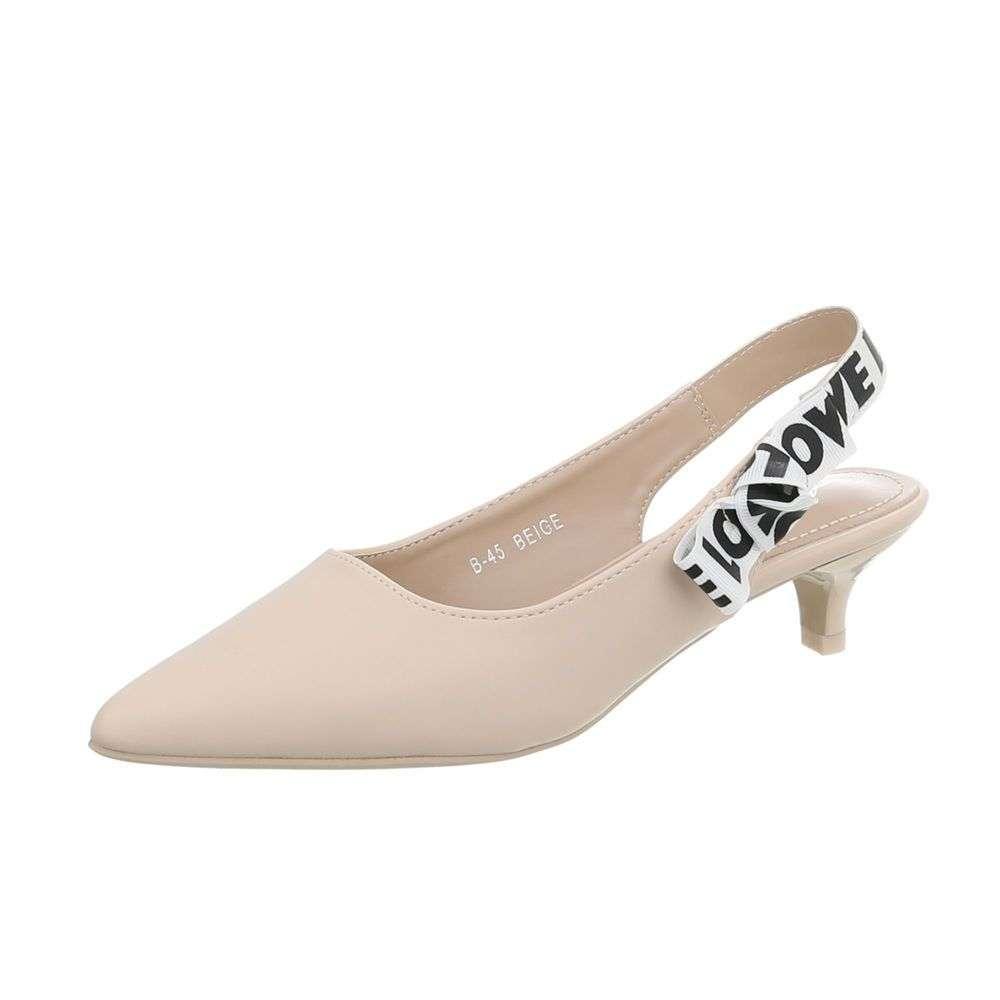Spoločenské sandále s uzavretou špičkou LOVE TOP-B-45-beige abd3f18b0ca
