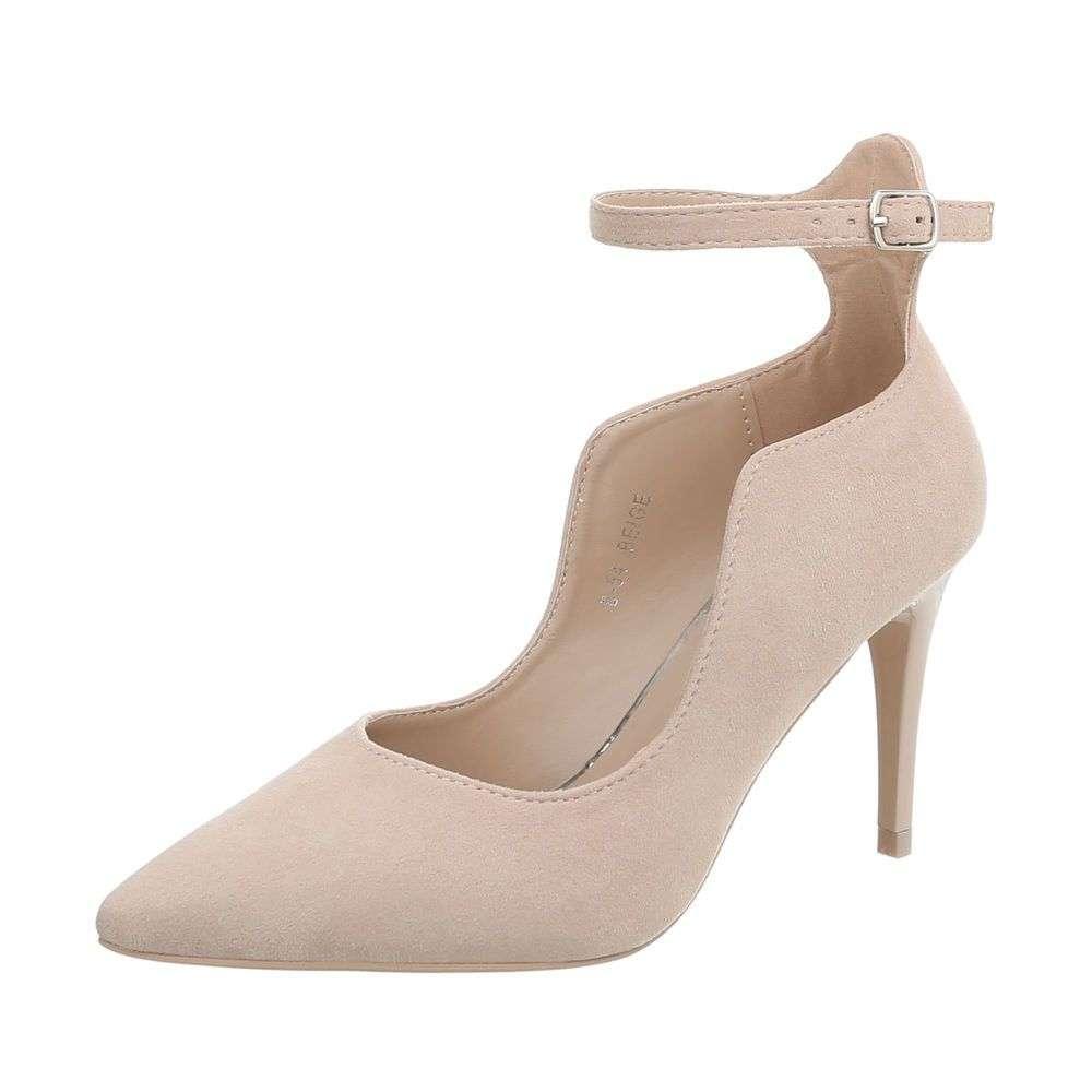 e7385b6f39ea0 Asymetrické spoločenské topánky na opätku TOP-B-54-beige