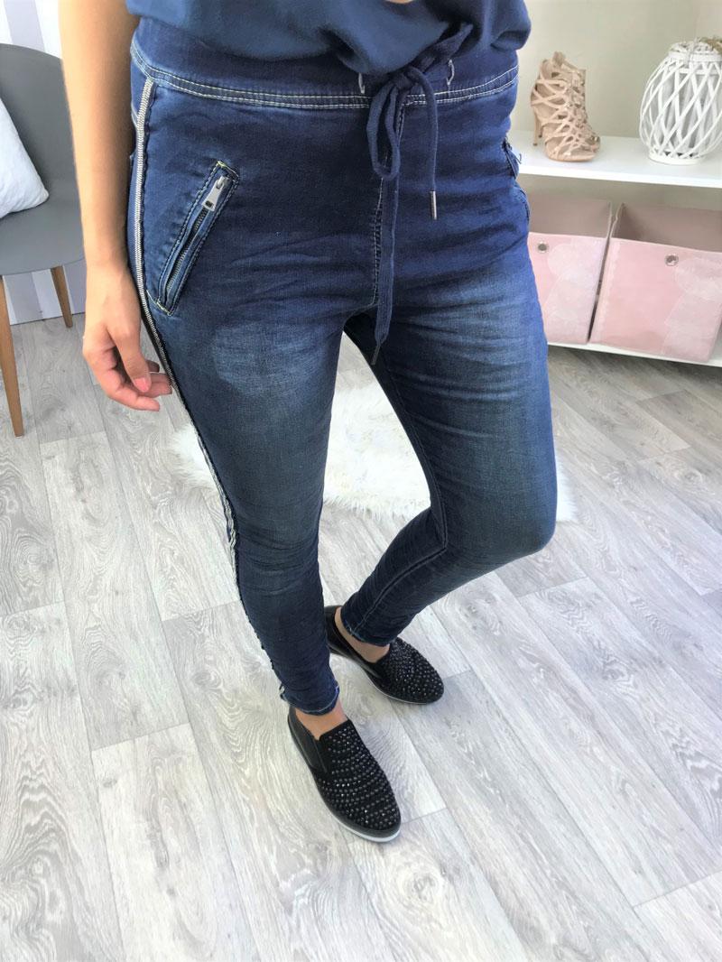 a33a18d9c218 Dámske nohavice s perličkami NK-96043-W8-blue