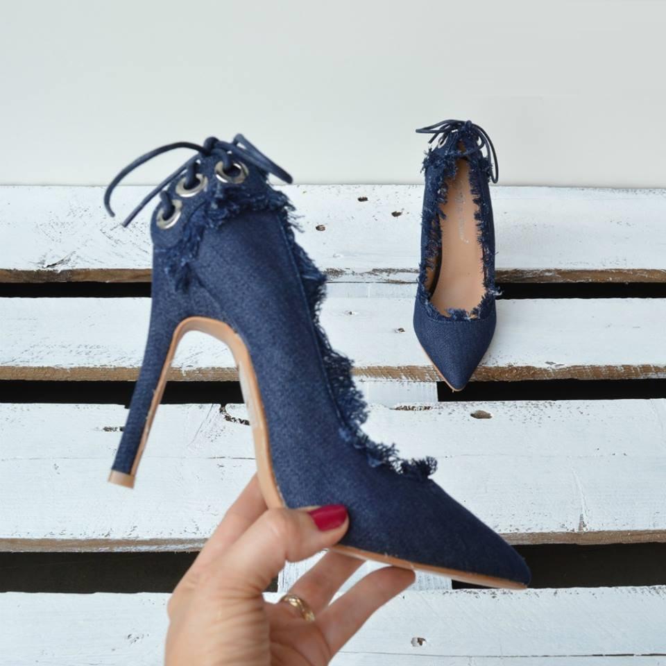 1c18089b11bb Dámske lodičky Jeans TOP-9798-blue