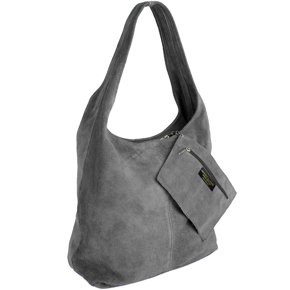 4de2b4f2bf47 Kožená kabelka na rameno S0707-d.grey