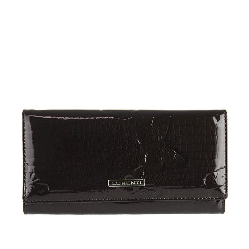 29d620ff6e Lakovaná kožená peňaženka LORENTI 64003-RSBF-black