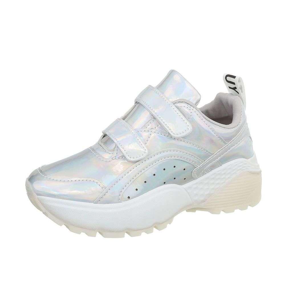 Holografické botasky na hrubej podrážke TOP-66016-silver aae65430f22