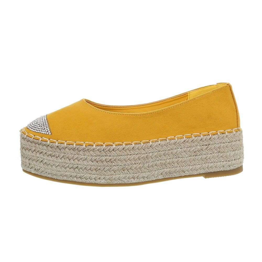 Espadrilky na platforme TOP-2769-1-yellow