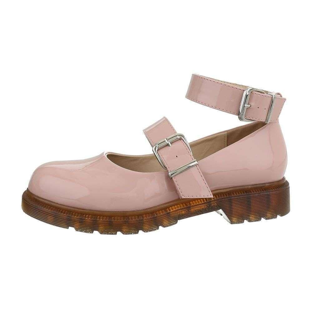 9c193477fb94 Ružové lakované poltopánky TOP-9779-pink