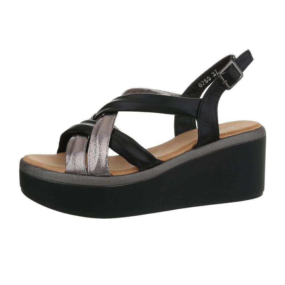 52c1a108b9a3 Sandále na vysokej platforme TOP-6765-black