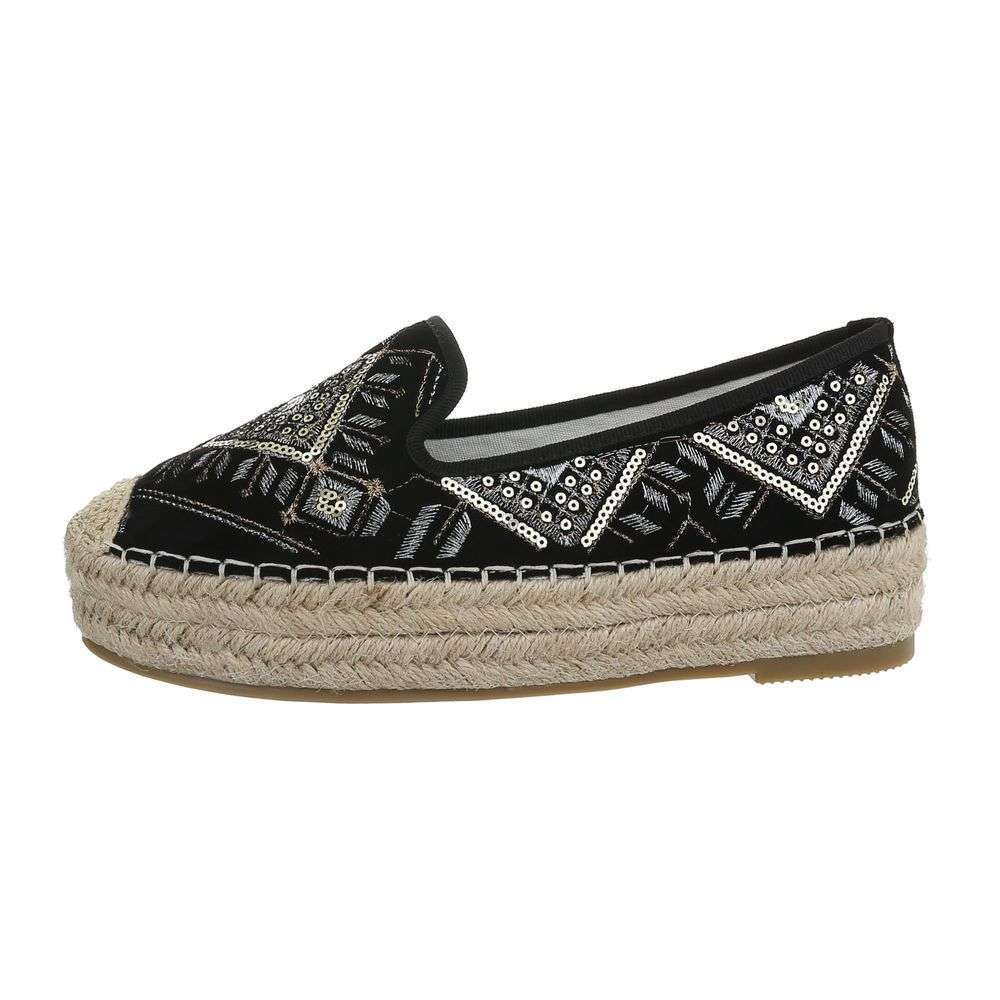 Kombinované espadrilky TOP-CD-7-black