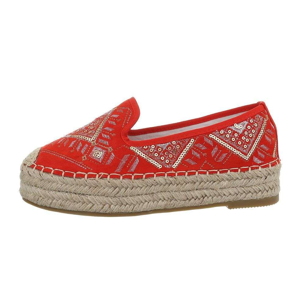 Kombinované espadrilky TOP-CD-7-red