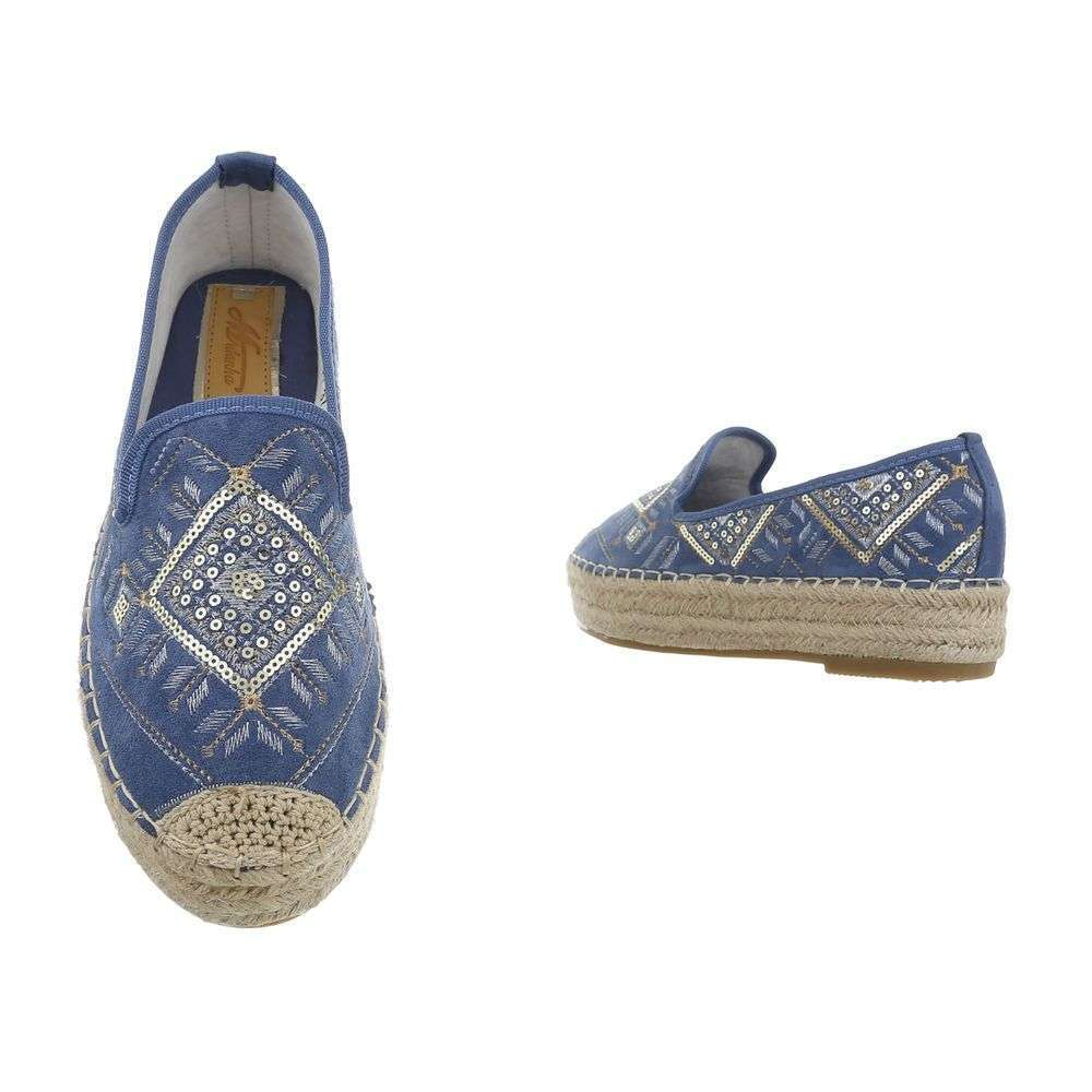 Kombinované espadrilky TOP-CD-7-blue