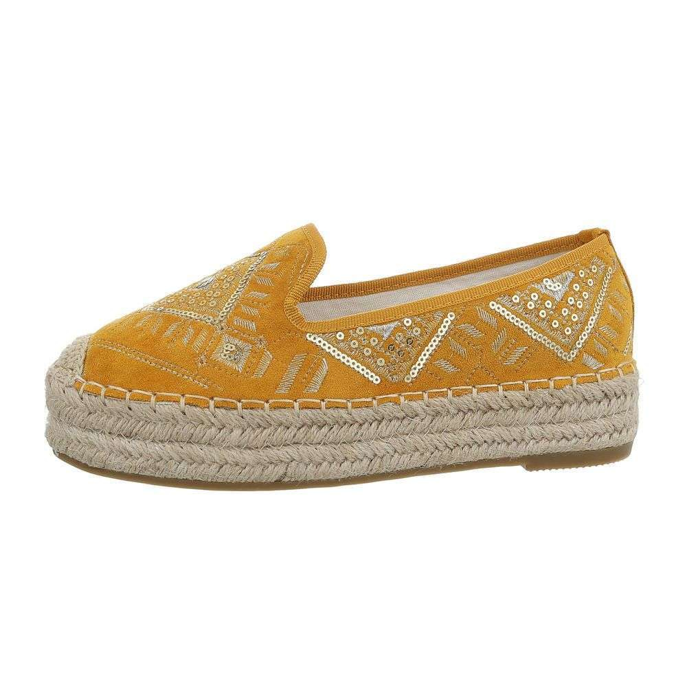 Kombinované espadrilky TOP-CD-7-yellow