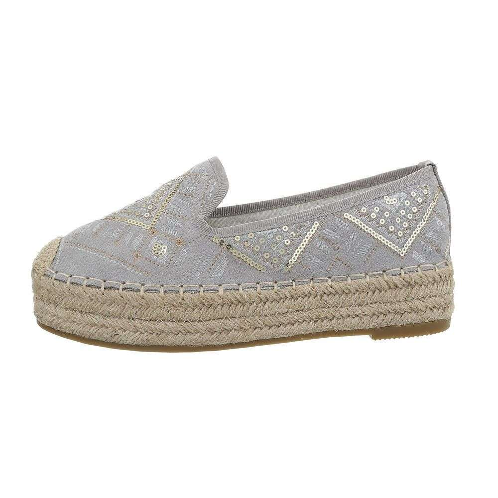 Kombinované espadrilky TOP-CD-7-gray